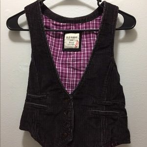 Small courduroy brown vest